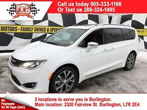 2017 Chrysler Pacifica Limited, Navi, Leather, Pan Sunroof, 35,0