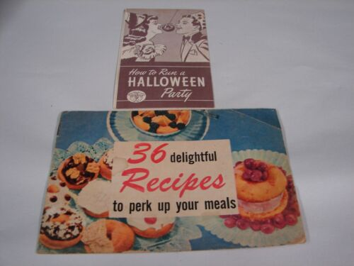 1947 VINTAGE HOW TO RUN A HALLOWEEN PARTY RECIPES GAMES TESTED QUALITY DOUGHNUTS