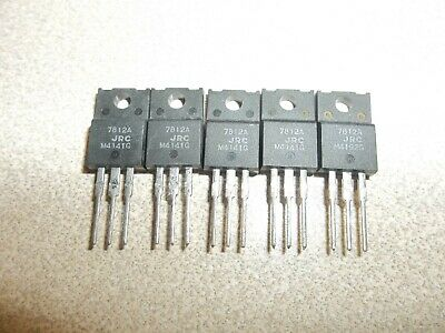 5 7812 Njm Or Jrc 7812fa Voltage Regulator To-220f Positive 12 Volt Insulated