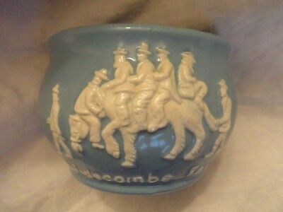 Dartmouth pottery Widecombe Fair blue bowl