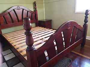 Queen Bed with bed side tables Acacia Ridge Brisbane South West Preview