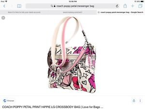 Brand New Limited  Edition a Poppy collection COACH Bag