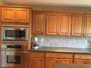 Kitchen Cupboards with Granite Counters