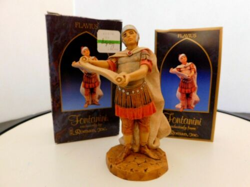 """Fontanini Italy """"Flavius""""  5 inches Figurine with Box & Story Card"""