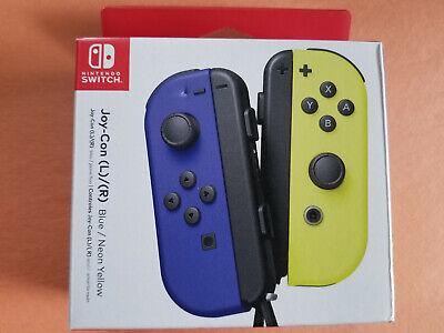 NEW Nintendo Switch Joy-Con (R) (L) Wireless Controller Pair - Blue & Yellow