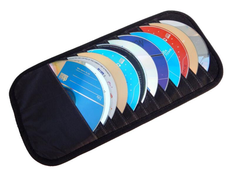 12 Disk CD DVD Auto Car Sun Visor Holder Storage Organizer Case - Truck Van SUV