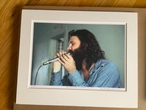 Jim Morrison Photo 10x7 Frank Lisciandro #  2 of 100 Also Signed Morrison Book