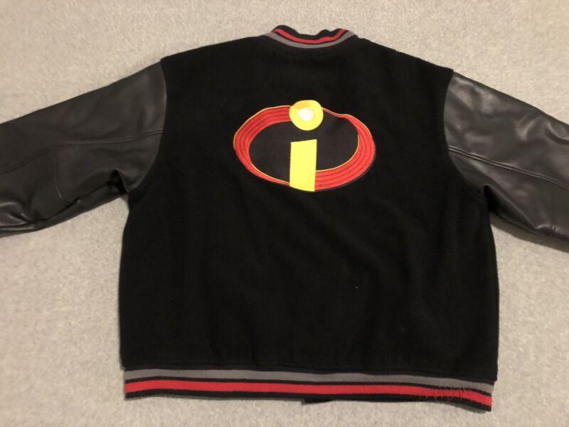 The Incredibles Movie Disney Varsity Wool Blend Promo Jacket Black