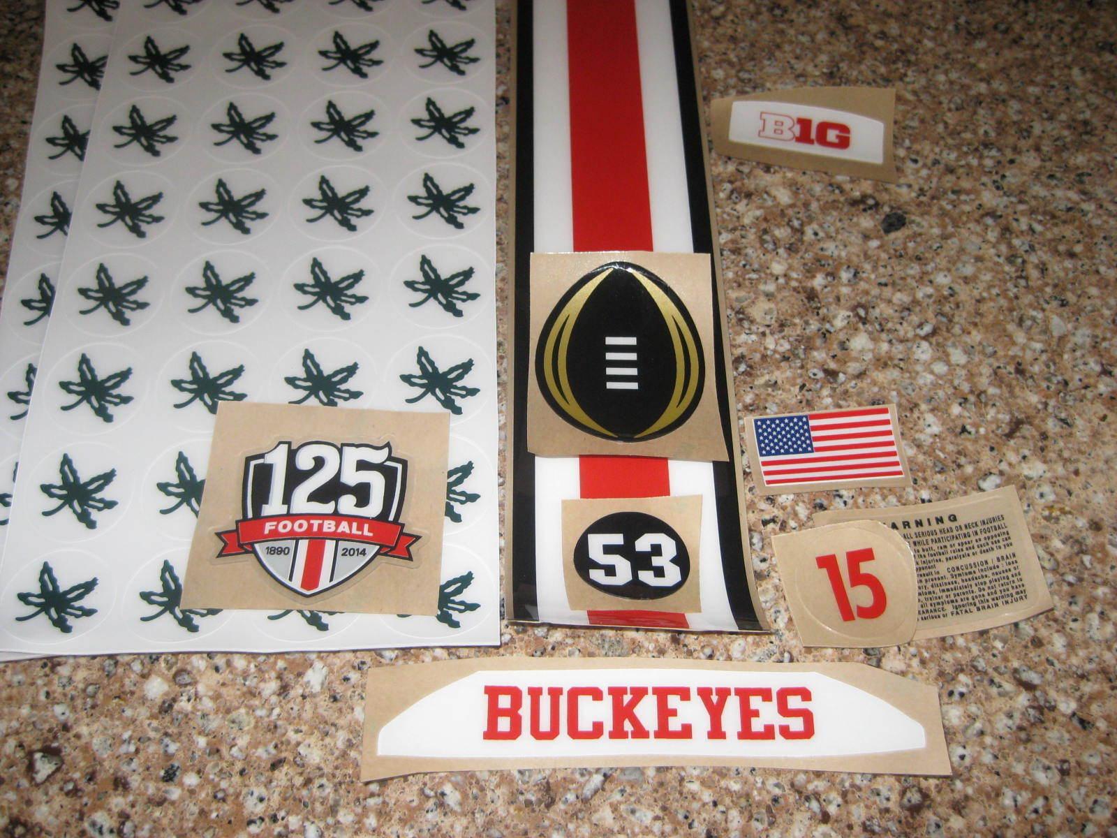 Ohio State Buckeyes 20 mil 3M vinyl full size football helme