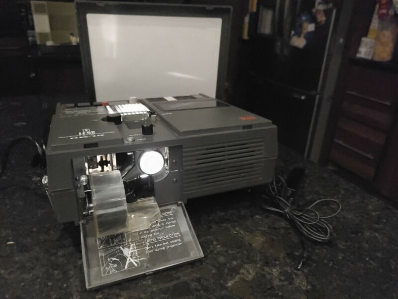 Elmo 35-FT PS Sound Filmstrip Projector   Made in Japan   + Dust Cover   Tested