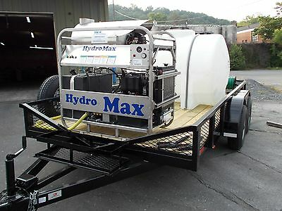Hot Water Pressure Washer Trailer Mounted-8.5gpm3500psi-diesel Engine