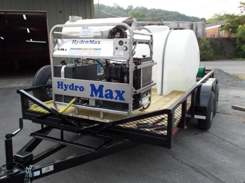 Hot Water Pressure Washer Trailer Mounted-8gpm,4000psi-Diesel Engine