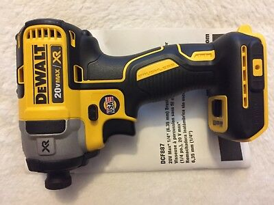 New Dewalt DCF887B 1/4