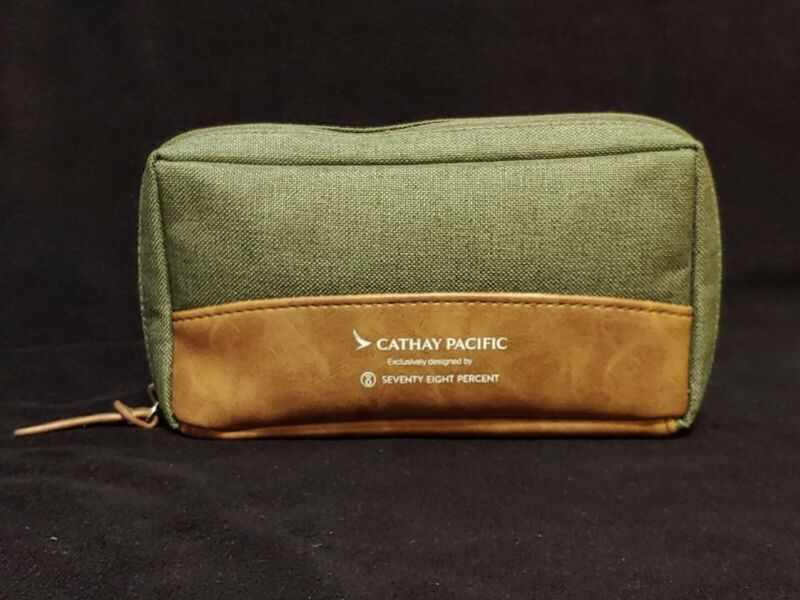 Cathay Pacific Brown Amenities Bag By Seventy Eight Percent