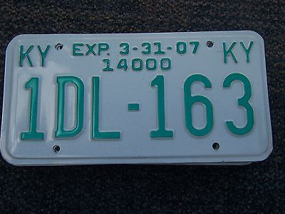 1DL 163 = 2007 Kentucky 14,000 # Truck License Plate     YES  I Combine Shipping