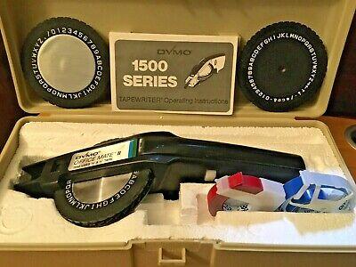 Dymo Officemate Ii 1540 Embossing Label Maker W3 Rolls 3 Letter Wheels Case