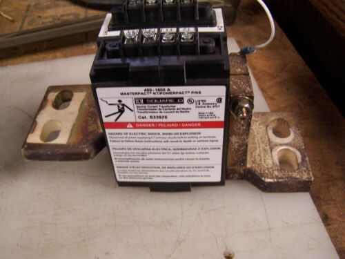 SQUARE D S33925 Current Transformer USED ON Masterpact Nt Frame 400-1600A