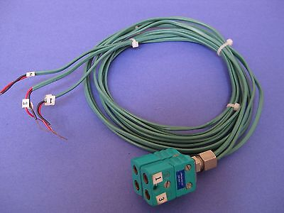 Johnson Matthey Type R Thermocouple Dual Female Connectors Used