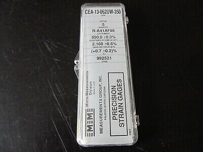 Vishay Micro Measurements Precision Strain Gage Cea-13-062uw-350 5 Pack