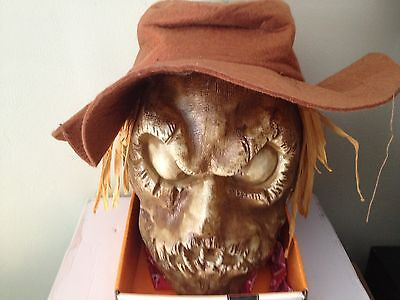 ANIMATED NEW MUMMY SCARECROW HEAD TALKING PROP RED EYES Halloween