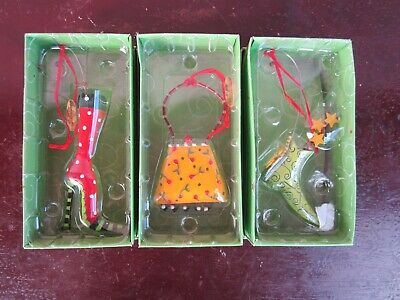 Dept. 56 Lollysticks Christmas Ornaments by Kim Bowles - Set of 3 for - Christmas Ornaments For Sale