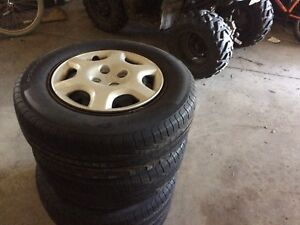 5 bolt Toyota rims and tires
