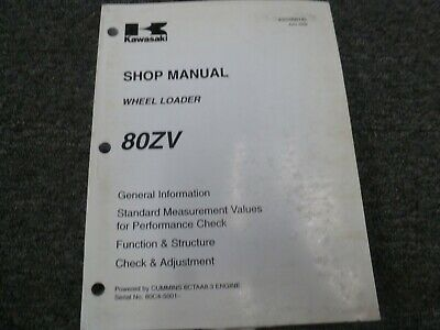 Kawasaki 80zv Wheel Loader Engine Transmission Hydraulic Service Repair Manual