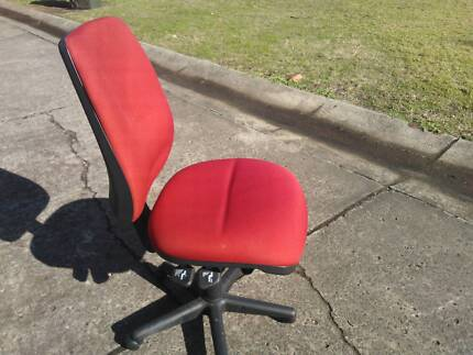 EXGOVERNMENT RED OFFICE ERGO CHAIR*AUSTRALIAN MADE*COMPUTER*STUDY
