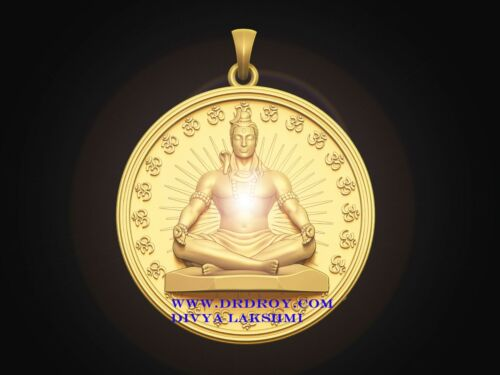 Lord Shiva Aghoreshwar Tantra Pendant 24 KT Gold Plated