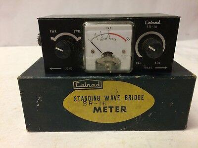 Vintage Calrad Sr-16 Standing Wave Bridge Meter Wbox