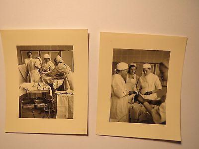Krankenhaus - Operation - Ärzte Krankenschwester bei OP / 2x Foto