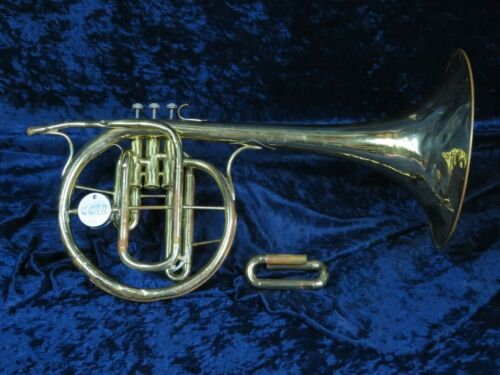 Conn Stan Kenton Style F Mellophone Ser#H10579 w/Eb Tuning Slide Extension Plays