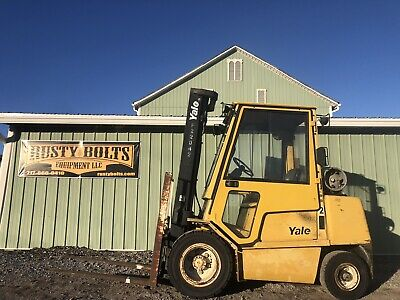 Yale Glp060 Forklift Enclosed Cab 6000 Lb Lift Cheap Shipping Rates