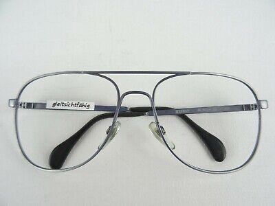 MENRAD 633 graue Vintagebrille für Herren Pilotform für große Gesichter Gr. L