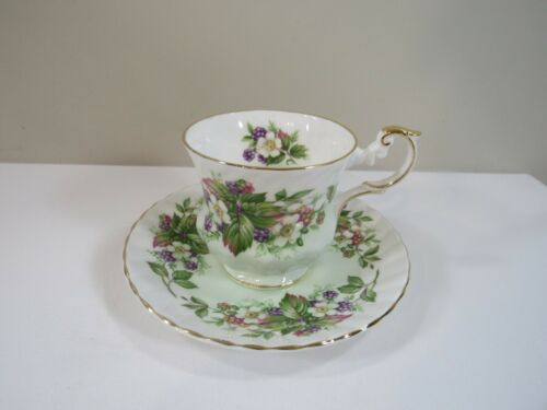 """Rosina Porcelain """"Wild Flowers"""" Cup and Saucer"""