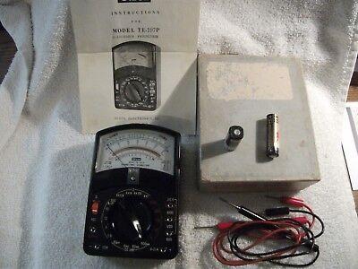Vintage Olson Electronics Multitester Te-197p Ac Dc Volt Ohm Meter M-54 Battery