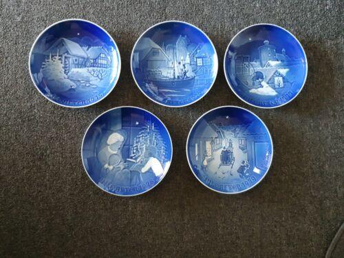 5 Lot 1975 1976 1977 1978 1979 Jule After Bing Grondahl Christmas Plates