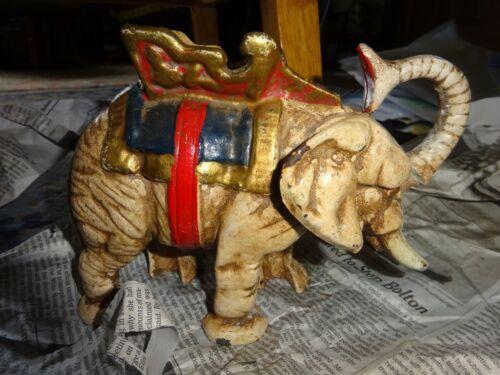 Vintage Elephant Cast Iron Bank Bank Collectible Elephant Collectible