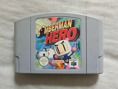 BOMBERMAN HERO Nintendo 64 N64 Game PAL VERSION Bomber Man