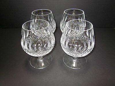 Waterford Crystal Colleen Large Brandy Glasses Set of 4