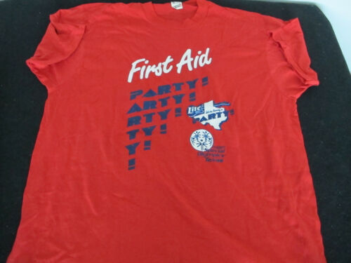 BGP Party First Aid Staff Red T-shirt for Special Olympics Texas XL