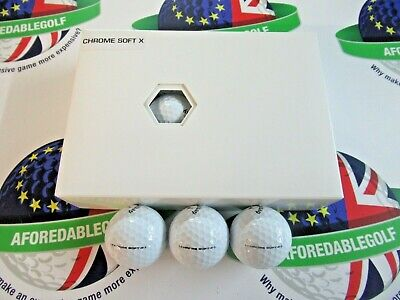 1 DOZEN CALLAWAY CHROME SOFT .X. GOLF BALLS