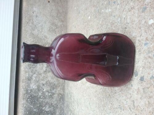 "Vintage Rare  hand blown Purple Violin bottle 8"" TALL FREE SHIPPING"