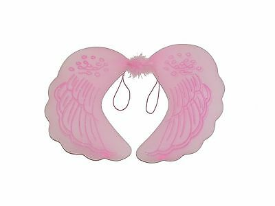 Beautiful Angel Costumes (BEAUTIFUL PINK WHITE ANGEL WINGS HEN PARTIES DRESSING UP KIDS ADULTS)