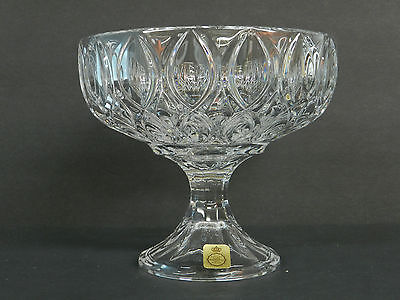 Bleikristall Cut Lead Crystal Pedestal Bowl / West Germany Elegant Near Pristine - $42.00