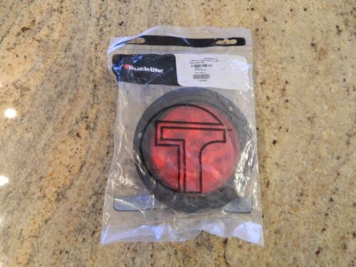New Truck-Lite Super 44 LED Round Stop / Turn / Tail Light - Red w/ Black Flange