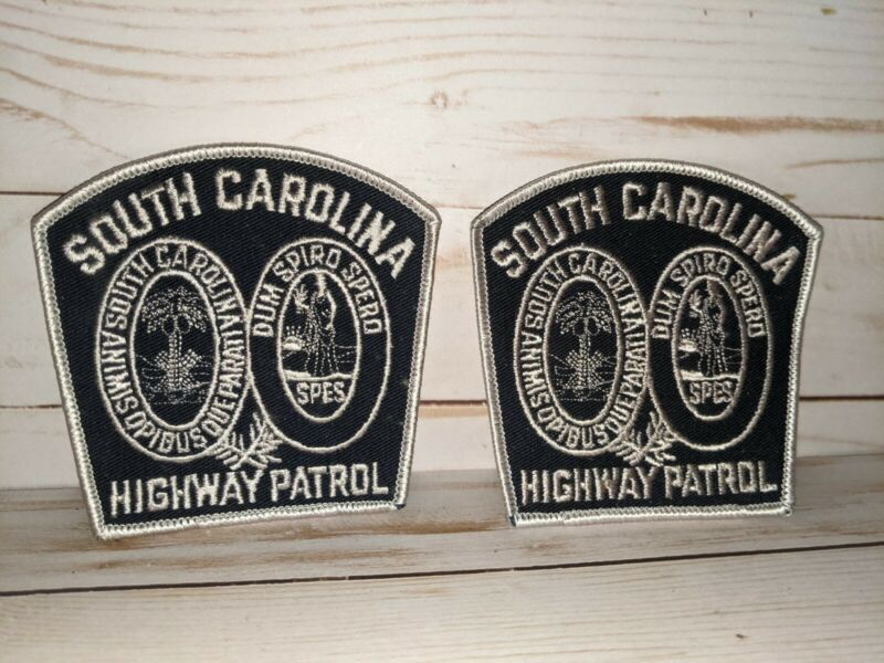 2 South Carolina Highway Patrol Police Embroidered Patch Lot