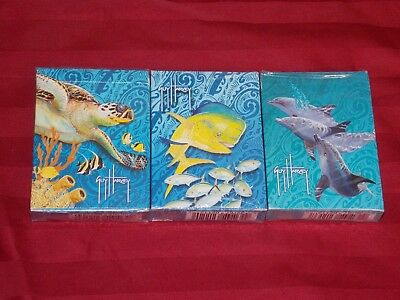Lot of 3 Guy Harvey Playing Cards Sets Turtle Dolphin FIsh Designs New Sealed](Turtle Fish Games)