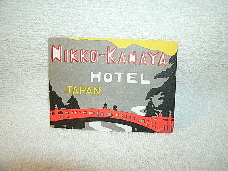Vintage Original *NIKKO-KANAYA HOTEL--JAPAN* Luggage Label--1930-40