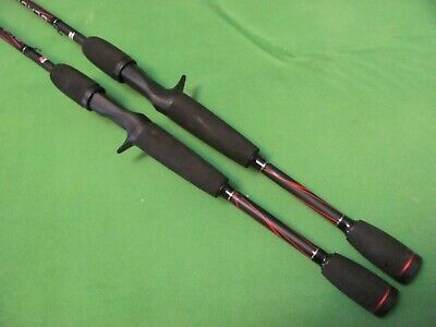 "1) PAIR OF ABU GARCIA BLACKMAX3 6'6"" MEDIUM ACTION CASTING RODS."